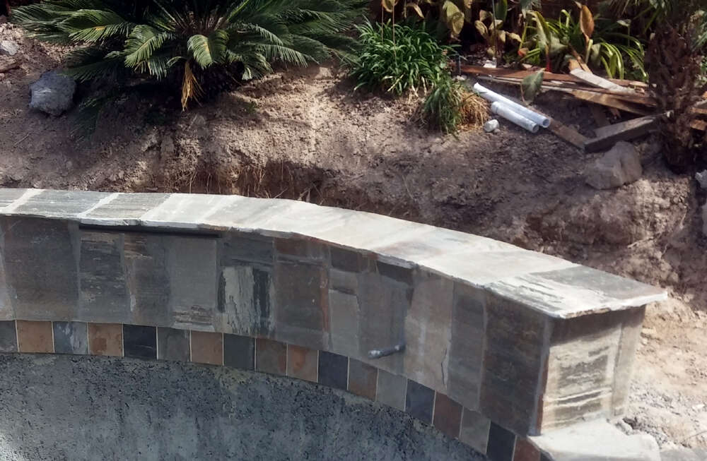 Pool Construction Step 4 Coping